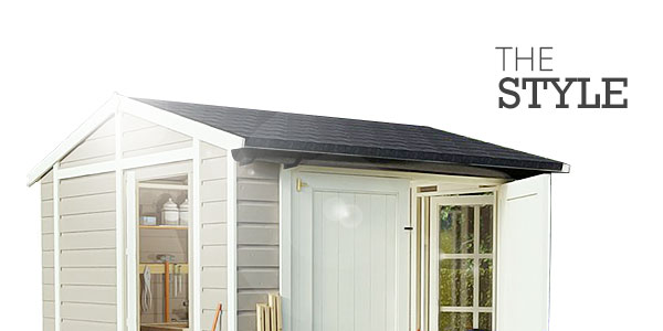 Shed roof the style with top half of a reverse apex shed