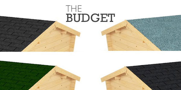 The budget with two sets of apex sheds facing each other