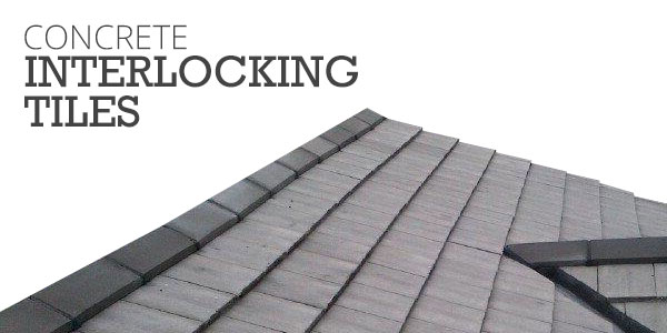 concrete interlocking tiles with shed rof