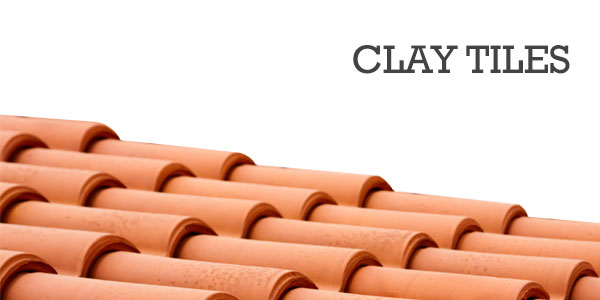 clay tiles on a shed roof