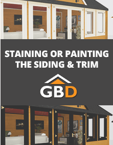 Staining or Painting the Siding