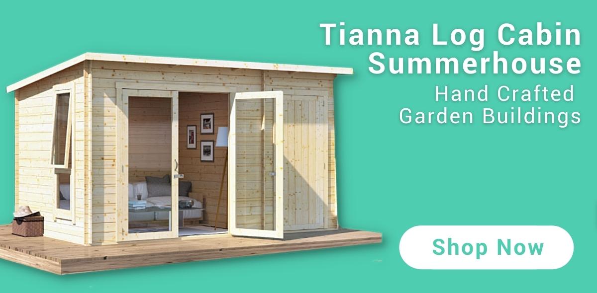 BillyOh Tianna Log Cabin Summerhouse Banner (Teal)