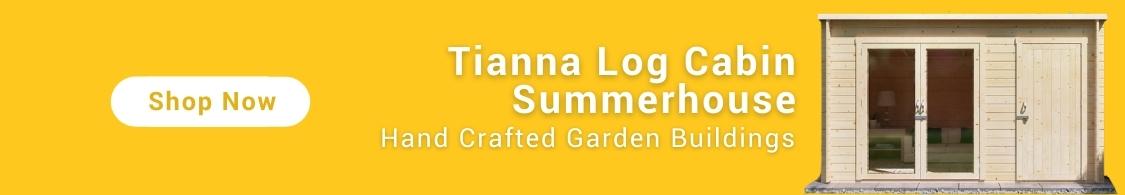 BillyOh Tianna Log cabin Summerhouse banner yellow